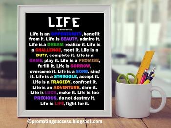 Mother Teresa Inspirational Life Quote Social Studies Cent