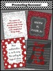 Math Posters for Back to School or Pi Day in Red & Gray Cl
