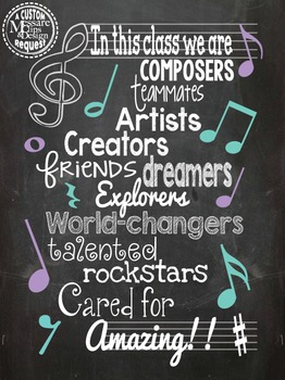 Poster - Music Motivation Classroom Poster {Messare Clips