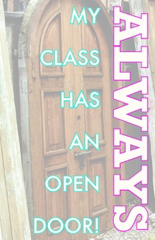 Poster - Open Classroom