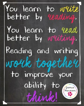 Poster: Reading and Writing Work Together