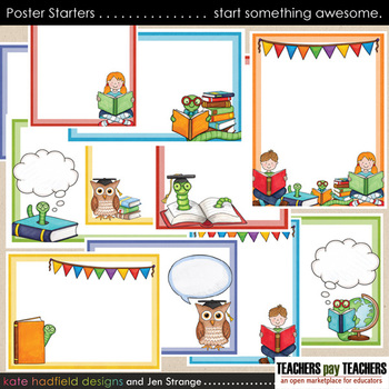 Poster Starters - add your own text to blank templates!