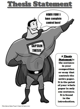 Poster:  Thesis Statement