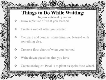 Poster - Things To Do While Waiting