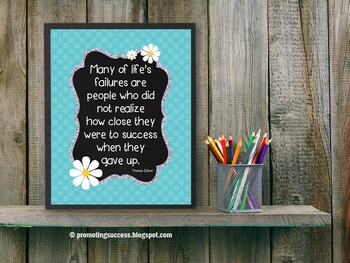 Inspirational Quote About Success Poster Classroom Decor T