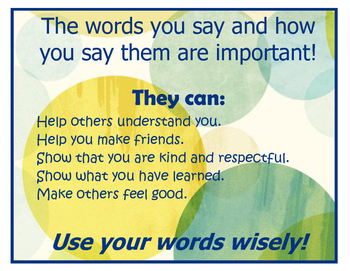 Poster: Words Are Important