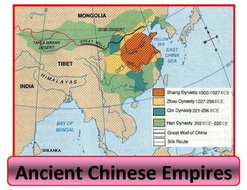 Poster - map of Chinese Empires