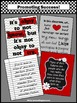 Red Black & Gray Classroom Decor with Motivational Quotes