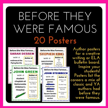 Posters: Authors Before They Were Famous