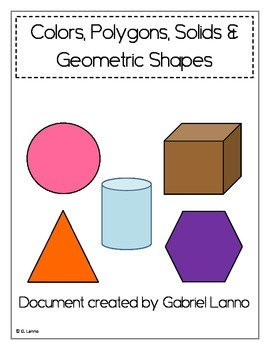 Posters: Colors, Polygons, Solids and Geometric Shapes (Ve