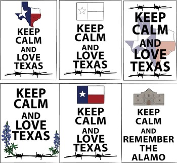 Posters - Keep Calm and Love Texas {Messare Clips and Design}