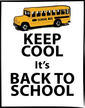 A Freebie Keep Cool Back to School Poster {Messare Clips a