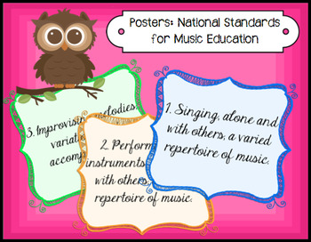 Posters: National Standards for Music Education
