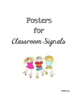 Posters for Classroom Signals Back to School Black and Whi