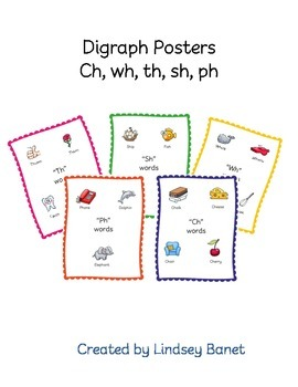 Posters for Digraphs (ch, sh, th, wh, ph)