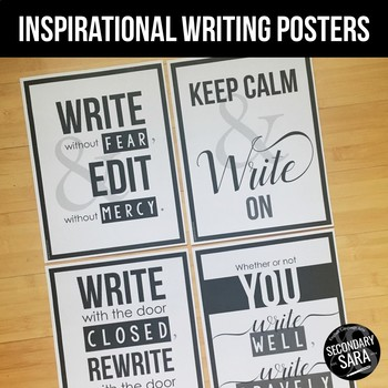 Posters for ELA Classrooms: Inspirational Writing Quotes