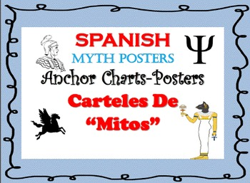 """Posters for Myths in SPANISH-""""Carteles de Mitos"""""""