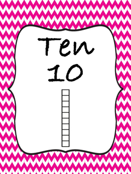 Posters for Numbers 10-120 by tens with Standard, Written,