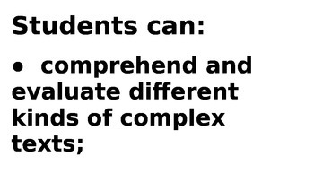 Posters re basic language skills per common core standards