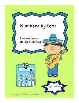 PostersSpanishNumbers by Tens 10-100/ Los numeros de diez