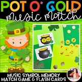 Pot o' Gold Music Match: St. Patrick's Day Music Symbol Ma
