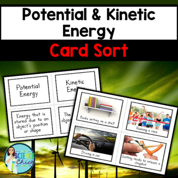 Potential & Kinetic Energy Card Sort