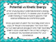 Potential vs. Kinetic Energy {Free cut & paste activity}