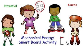 Potential vs Kinetic Energy Smart Board Vortex Game