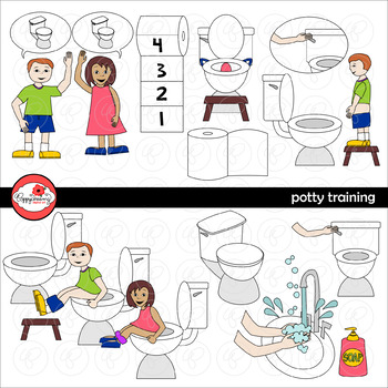 Potty Training Clipart by Poppydreamz