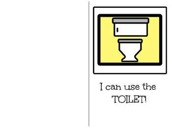 Potty Training-Adapted Book For Students with Disabilities