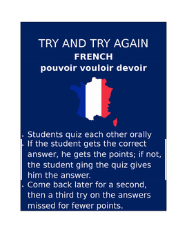 Pouvoir vouloir devoir FRENCH Try and Try Again