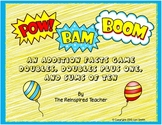 Pow! Bam! Boom! Addition Card Game