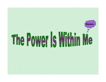 The Power Is Within Me Poster