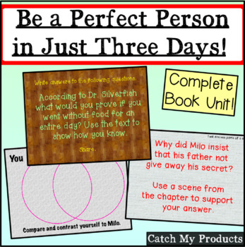Power Point: Literacy Unit for Be A Perfect Person in Just