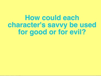 "Power Point: Literary Unit for ""Savvy"" by Ingrid Law, Chap"