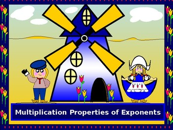Power Point:  Multiplication Properties of Exponents with