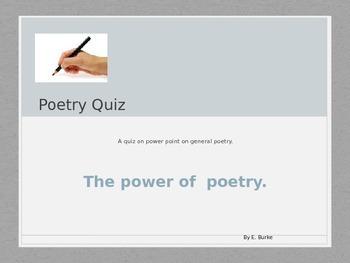 Power Point Poetry Quiz