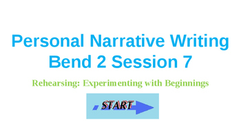 Power Point Presentation for Lucy Calkins' Personal Narrat