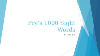 Power Point Presentation of Fry's 200 words