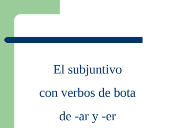 Power Point White Board Practice  Subjunctive Boot verb Co