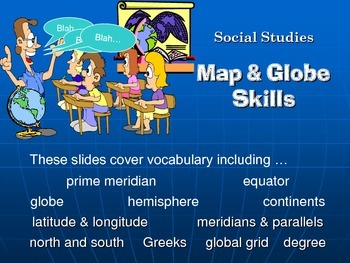 Power Point and Study Guide - Intermediate Map and Globe S