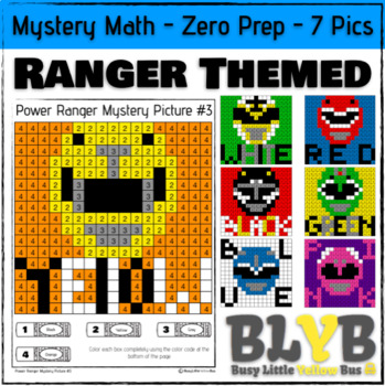 Power Rangers Themed Mystery Math (Number Recognition) NO