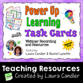 Power Up Learning with Task Cards Webinar Pack