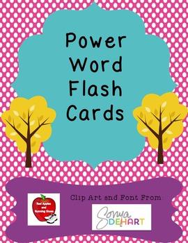 Power Word Vocabulary Flash Cards
