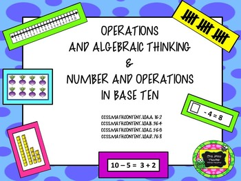 Operations and Algebraic Thinking and Operations in Base T