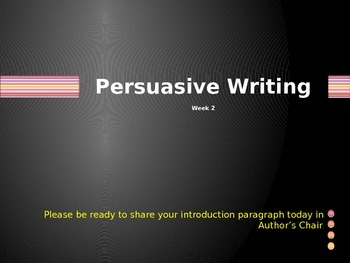 Power point: Persuasive Wrting part 2
