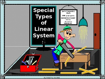 Power point Special Types of Linear Systems with GUIDED NOTES