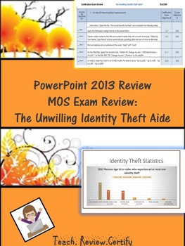 PowerPoint 2013 Review/MOS Exam Review:  The Unwilling Ide