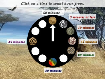PowerPoint Classroom Timer: Safari/Jungle Theme