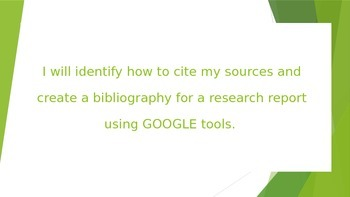 PowerPoint: Creating Bibliography Automatically Using Google